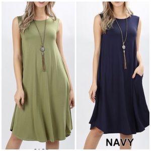 Dresses & Skirts - NAVY • Tunic Tank Dress
